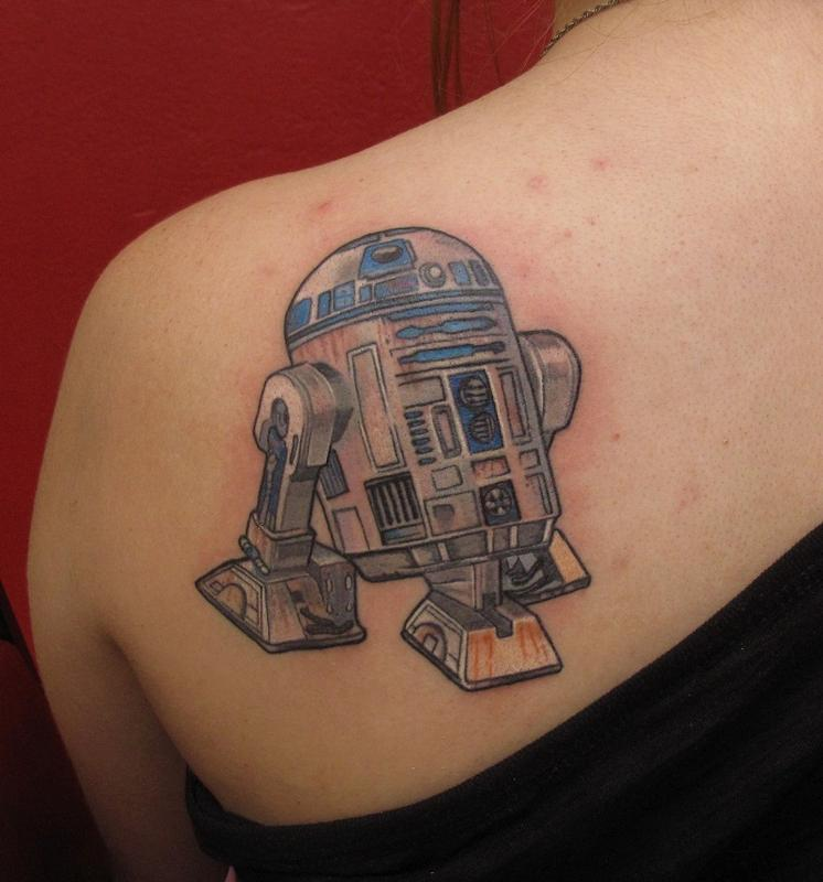 r2d2 star wars tattoo by robert hendrickson tattoonow