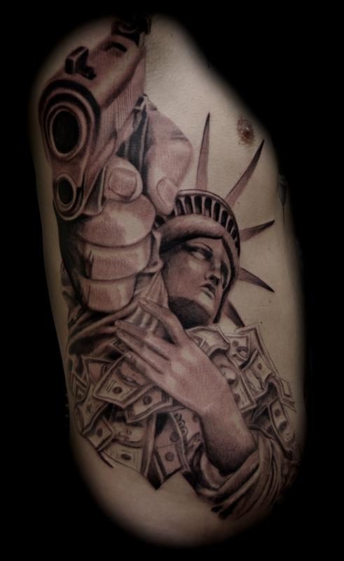 statue of liberty by jason frieling tattoos. Black Bedroom Furniture Sets. Home Design Ideas