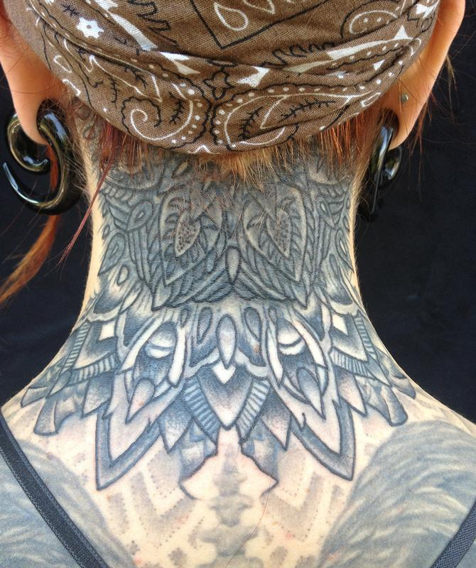 Jeff Johnson Tattoo Tattoos Misc Kates Neck Mandala 2