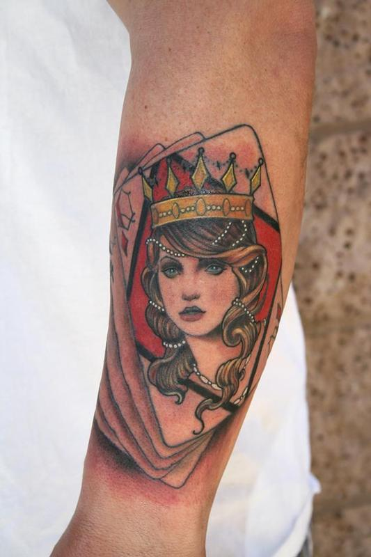 Queen Of Diamonds Tattoo Off the Map Tat...