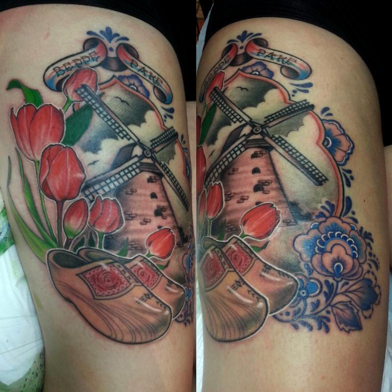 dutch memorial tattoo by jordan campbell tattoonow. Black Bedroom Furniture Sets. Home Design Ideas