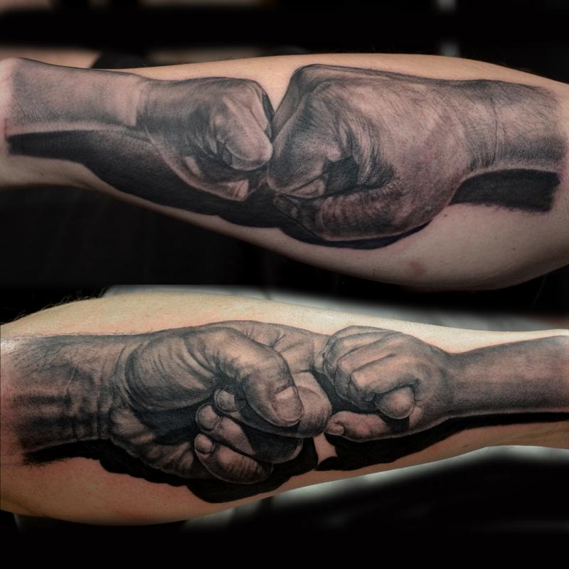 Father daughter father son by jose perez jr tattoos for Father and daughter tattoos