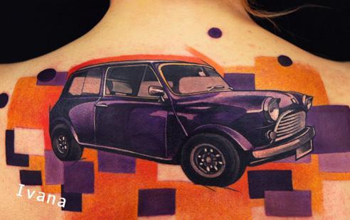 Venetian Tattoo Gathering Tattoos Original Art Classic Mini Car