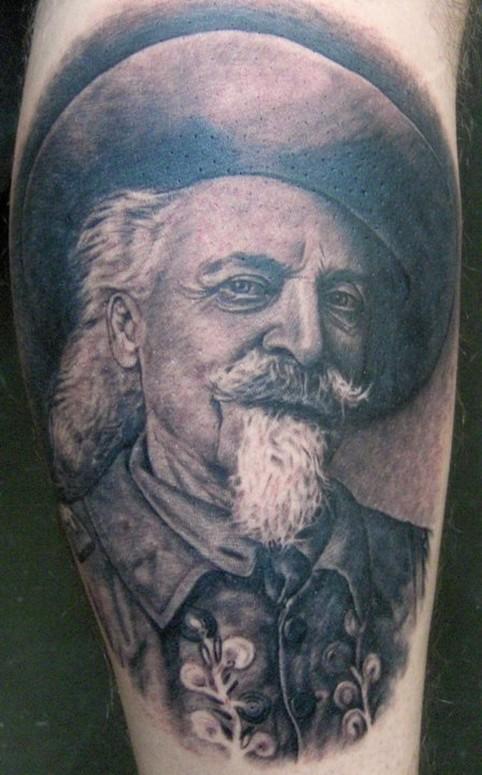 Buffalo bill cody by pepper tattoos for Tattoos of buffaloes