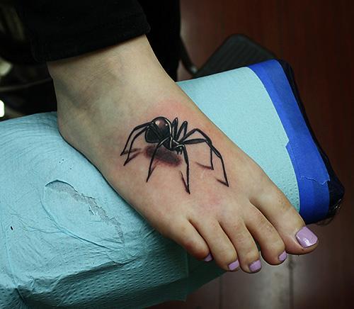 Black Widow 3D Tattoo