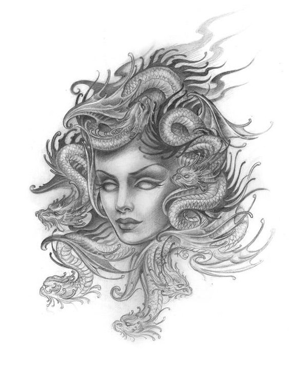 Medusa Art By Kim Saigh Tattoonow