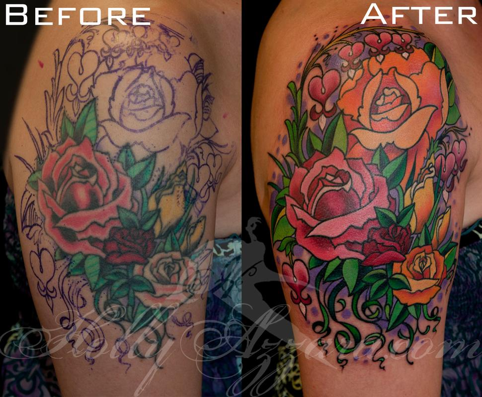 roses and bleeding hearts add on rework by holly azzara
