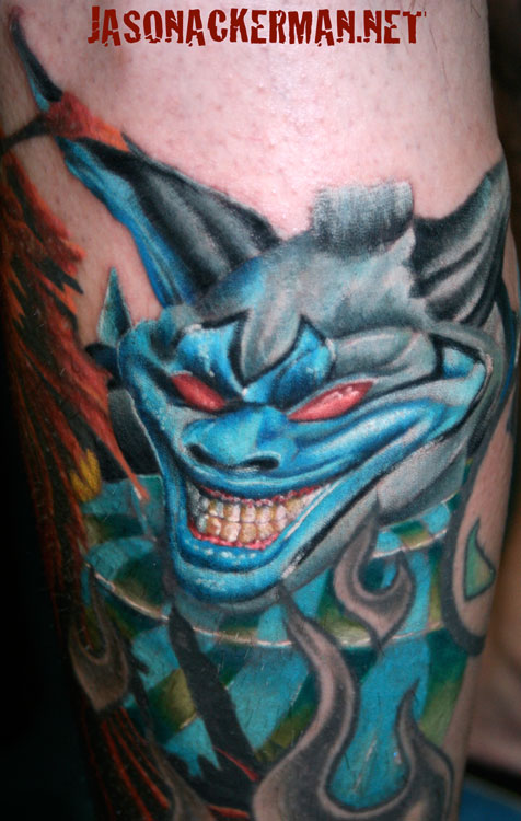 The clown from spawn by jason ackerman tattoonow for Jason ackerman tattoo