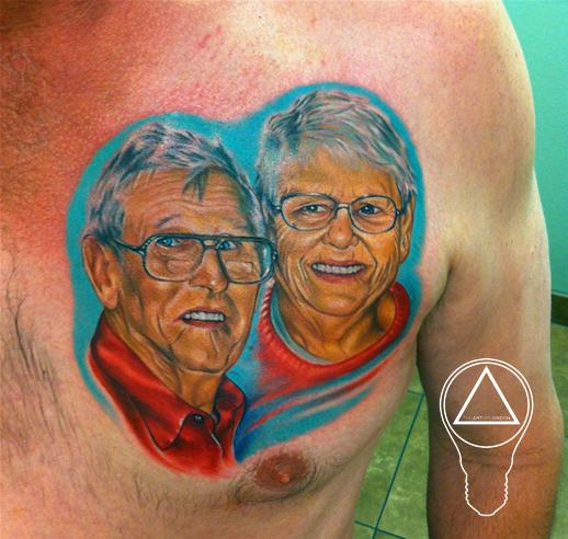 Family Portrait Colors Color Portrait Tattoos