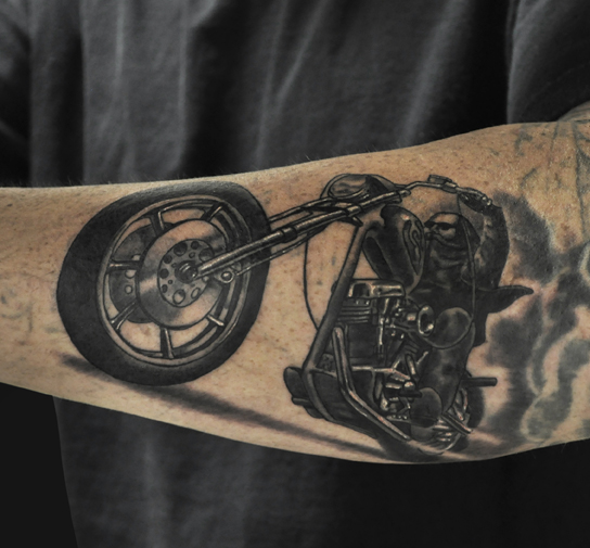 Biker Tattoo Placement Arm Comments Referenced from a David Mann painting
