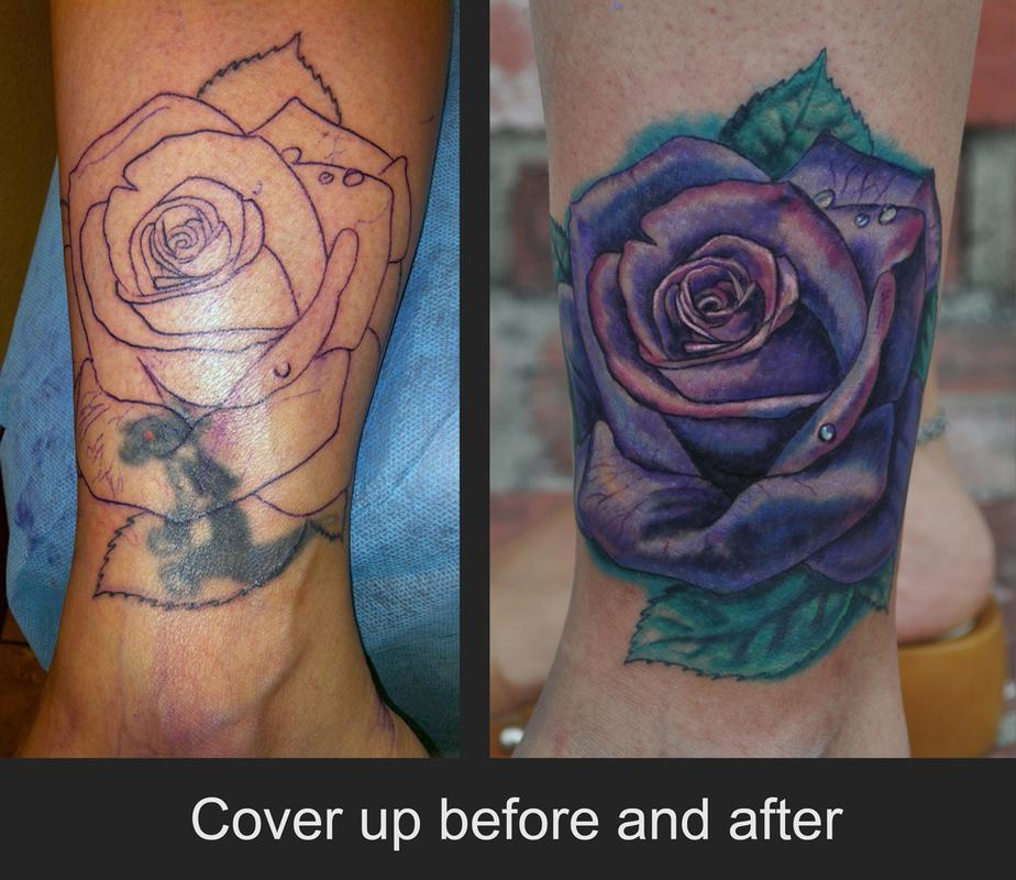 Rose Tattoo Cover Up: Rose Cover Up Tattoo By Jamie Lee Parker: TattooNOW