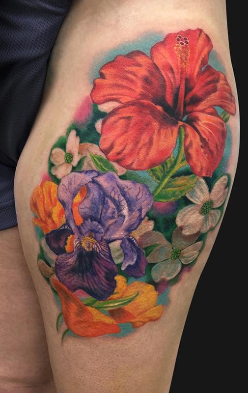 Flower Bouquet Tattoo By Jamie Lee Parker Tattoonow