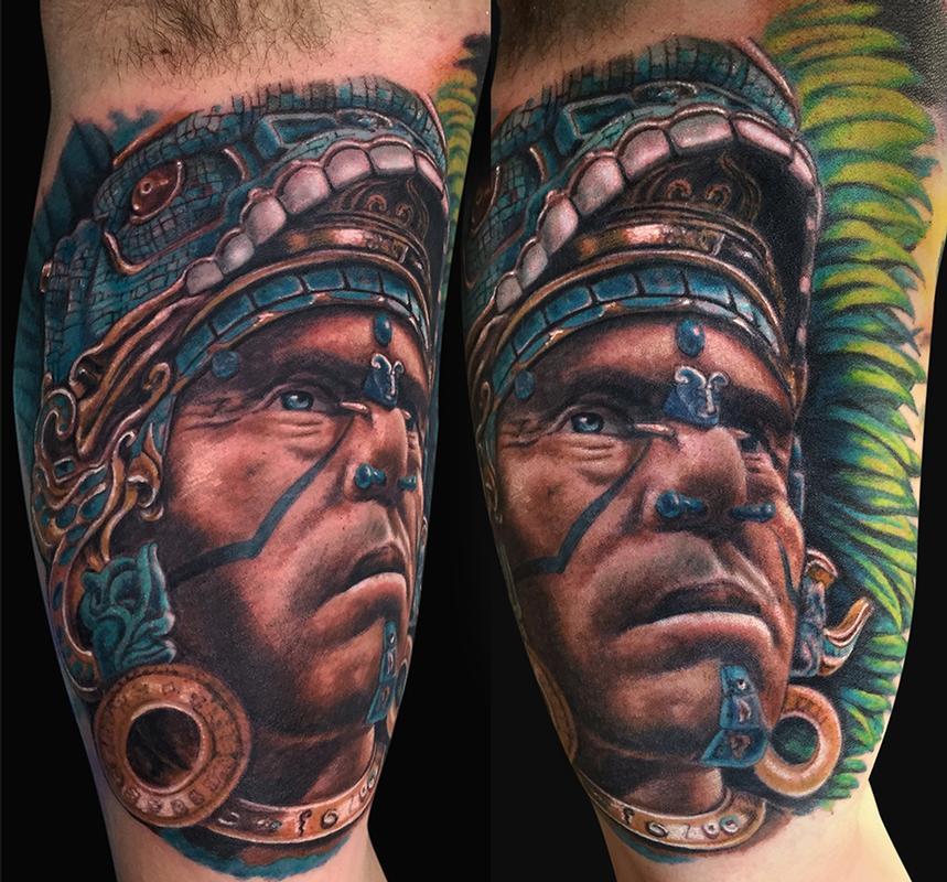 mayan warrior tattoo by jamie lee parker tattoonow rh tattoonow com mayan warrior tattoo mayan jaguar warrior tattoo