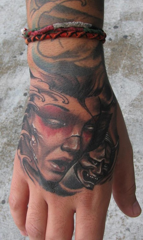 Geisha and hannya by marco vergel tattoonow for Tattoo artist in fort lauderdale