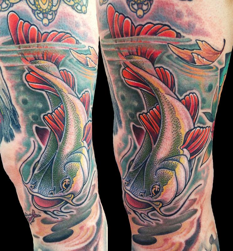 redtailed catfish by matt stebly tattoonow. Black Bedroom Furniture Sets. Home Design Ideas