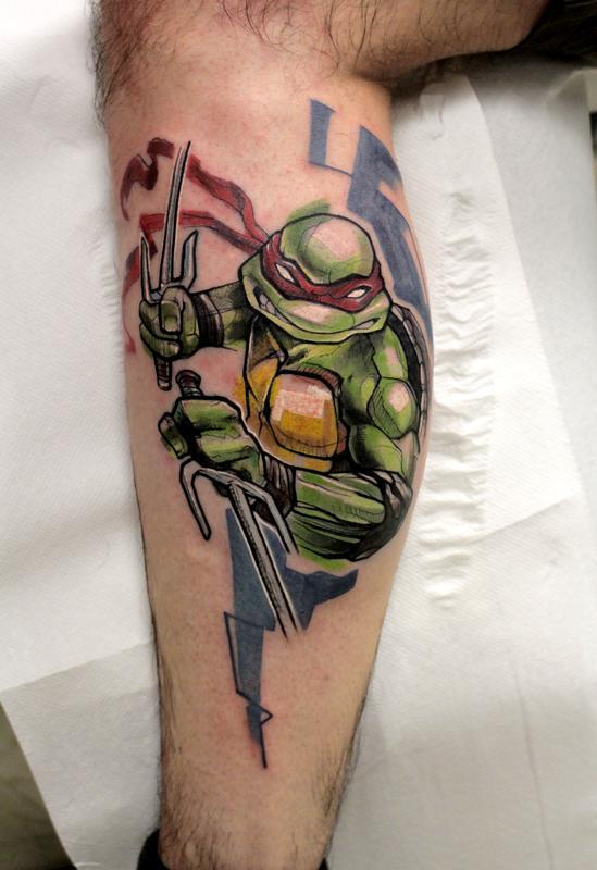 Raphael ninja turtles by mirco campioni tattoonow for Ninja turtles tattoo