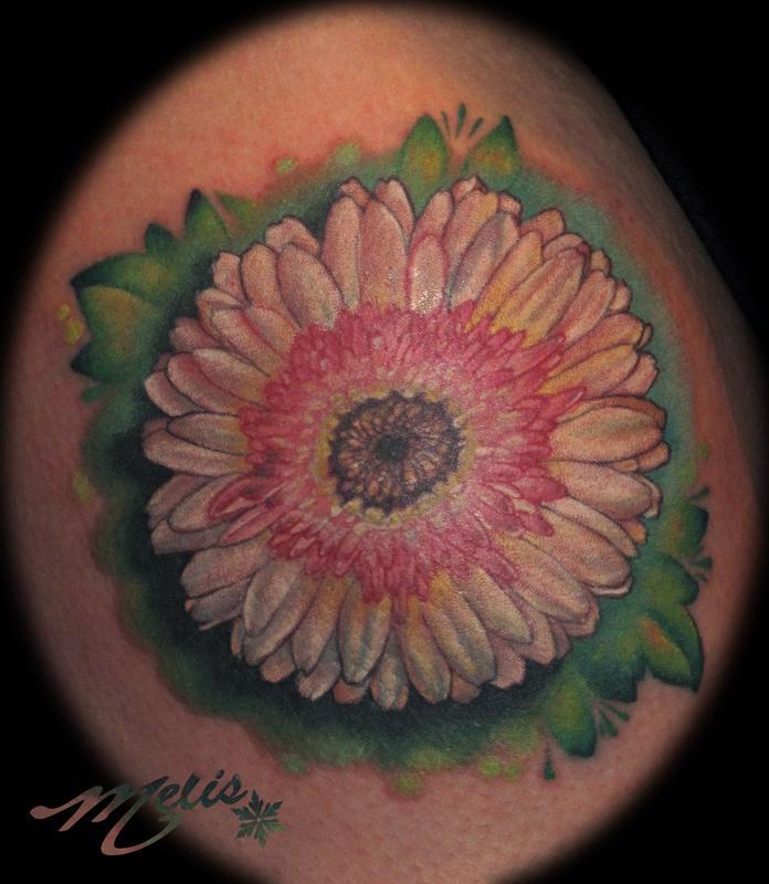 Gerber Daisy Tattoo: Off The Map Tattoo : Tattoos : Flower : Gerber Daisy
