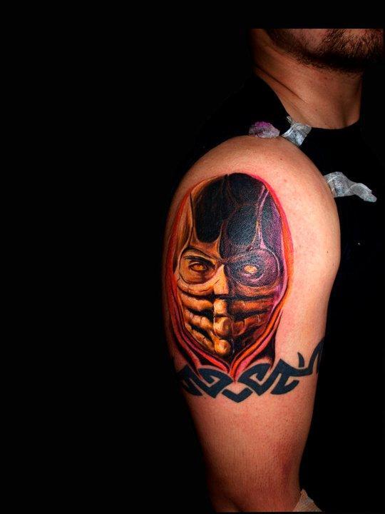 mortal kombat scorpion tattoo