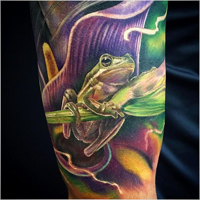 Mystic Eye Tattoo : Tattoos : Nature Animal : Rana realista a color ...
