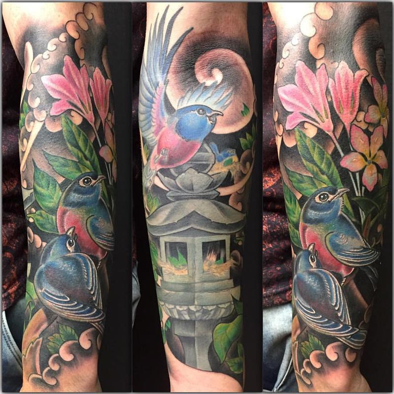 Mystic Eye Tattoo : Tattoos : Yarda : Neo-Japanese Birds