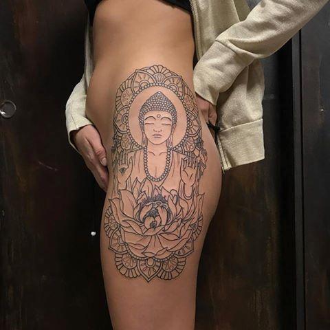 Mystic eye tattoo tattoos linn blackwork buddha and lotus flower linn blackwork buddha and lotus flower mightylinksfo