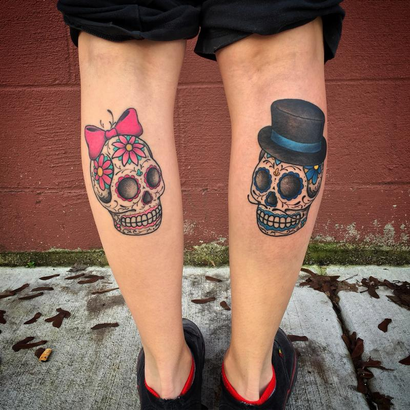 Off the map tattoo nic lebrun day of the dead female male sugar skulls tattoo gumiabroncs Images