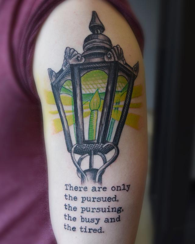 Lantern with green glow by ricky indiana tattoonow for Tattoo shops in champaign il
