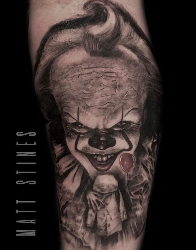 Pennywise by matt stines tattoonow for Tattoo shops in champaign il