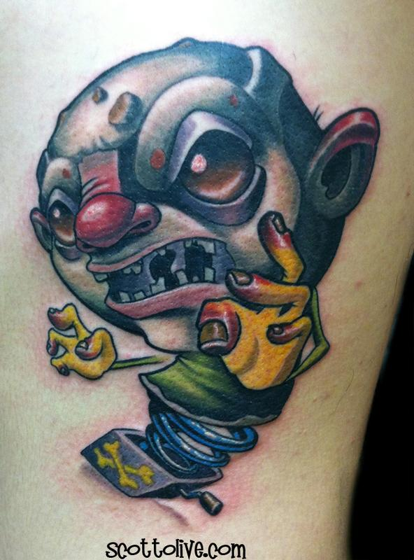 jack in the box by scott olive tattoos. Black Bedroom Furniture Sets. Home Design Ideas