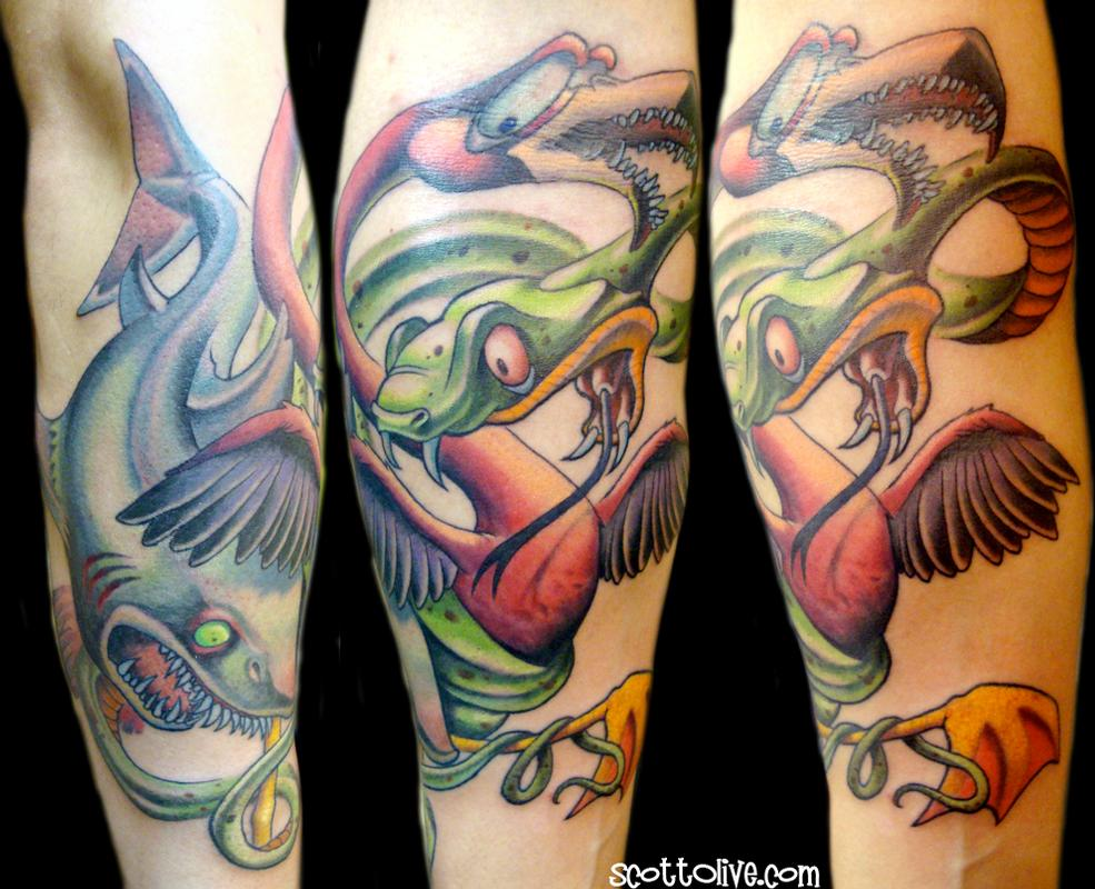 Florida battle royale by scott olive tattoos for Best tattoo artists in florida