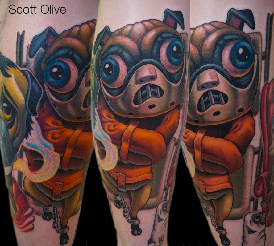 Hannibal Lecter Pug Tattoo Design