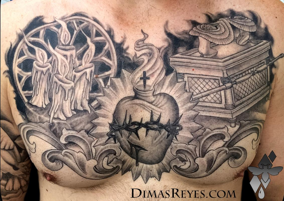 black and grey christian faith tattoo by dimas reyes tattoos. Black Bedroom Furniture Sets. Home Design Ideas
