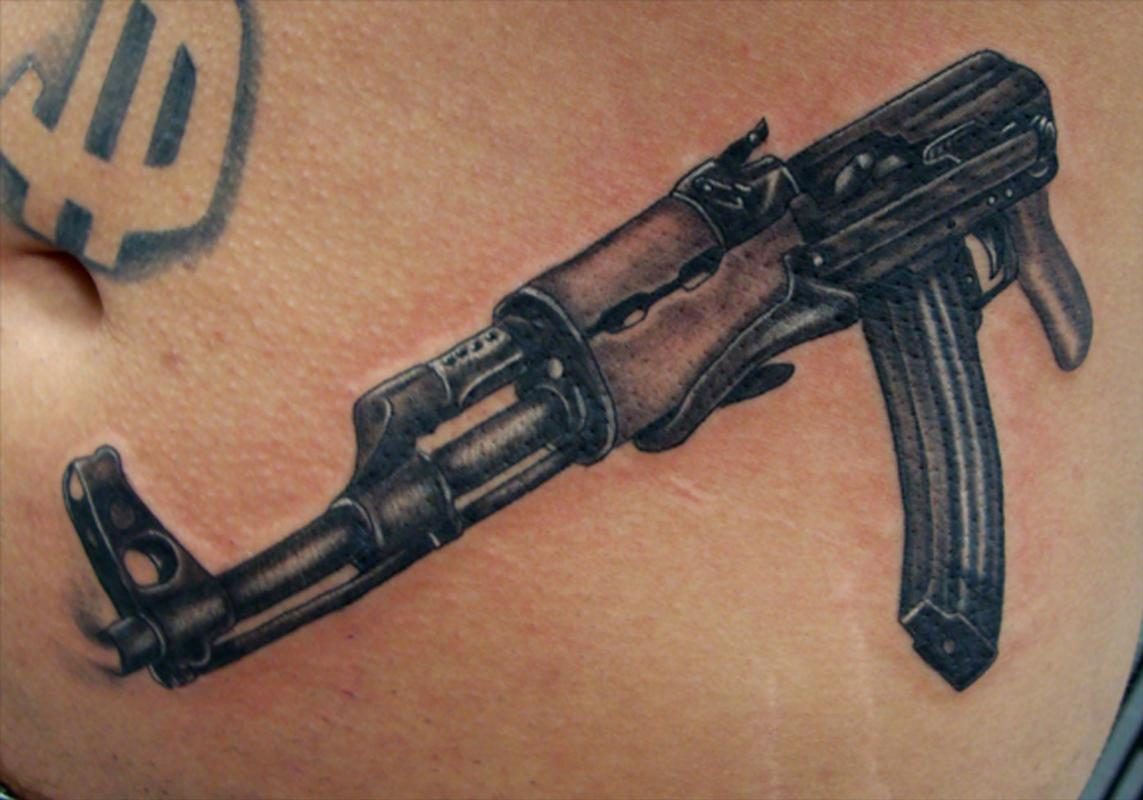 ak 47 by steve gibson tattoos. Black Bedroom Furniture Sets. Home Design Ideas