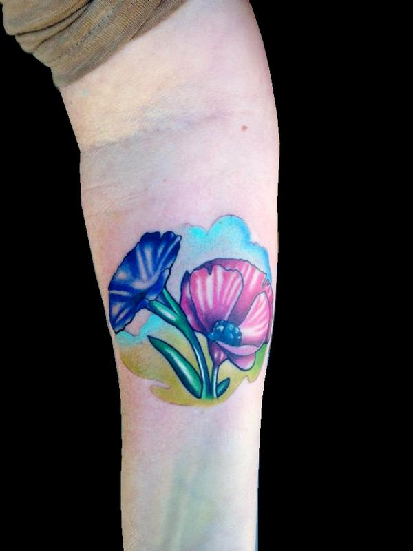Painted Soul Tattoo Tattoos Daniel Adamczyk Morning Glory And