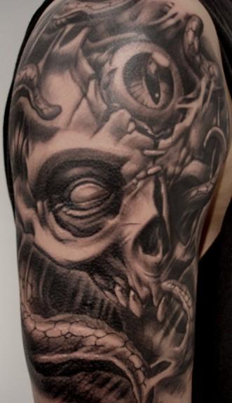 pin paul booth skull tattoo designs tattoowherecom on pinterest. Black Bedroom Furniture Sets. Home Design Ideas