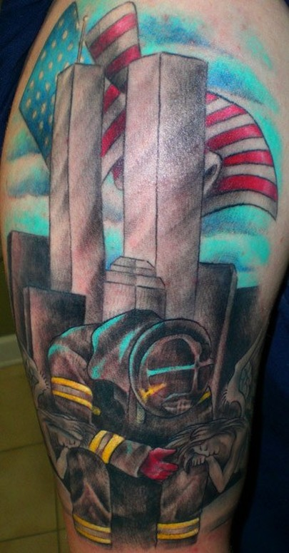 Twin towers tattoo bing images for Twin city tattoo