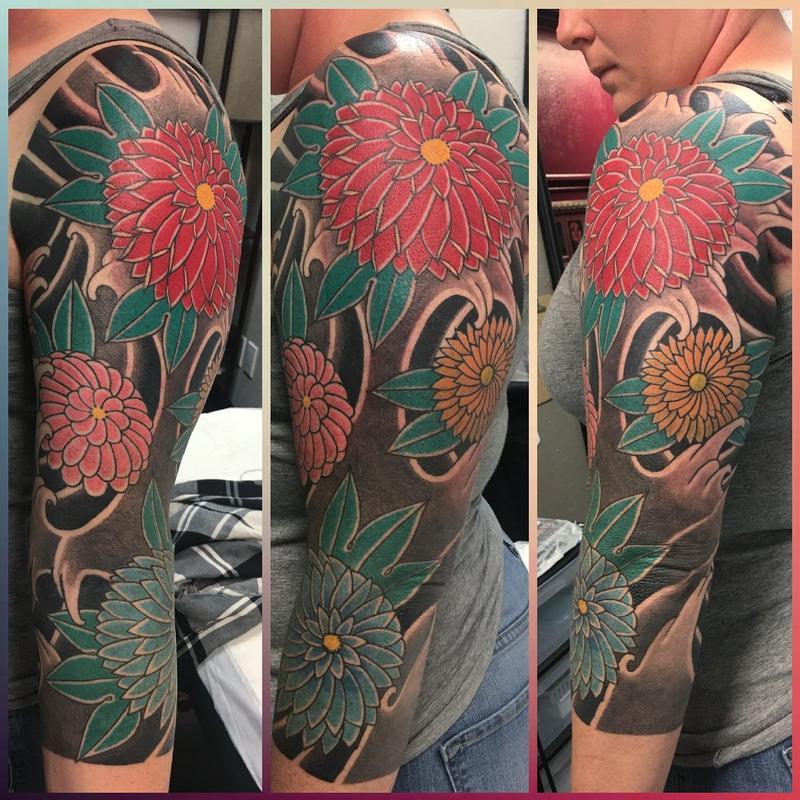 3e2e9d40b Japanese floral half sleeve by Joshua Daniel : Tattoos