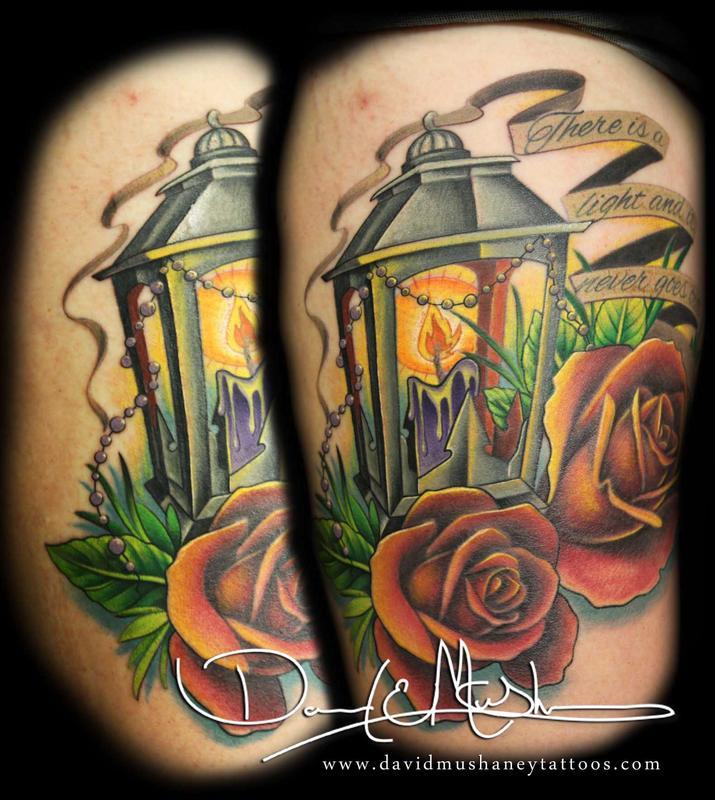 rebel muse tattoo tattoos flower rose lantern and roses. Black Bedroom Furniture Sets. Home Design Ideas