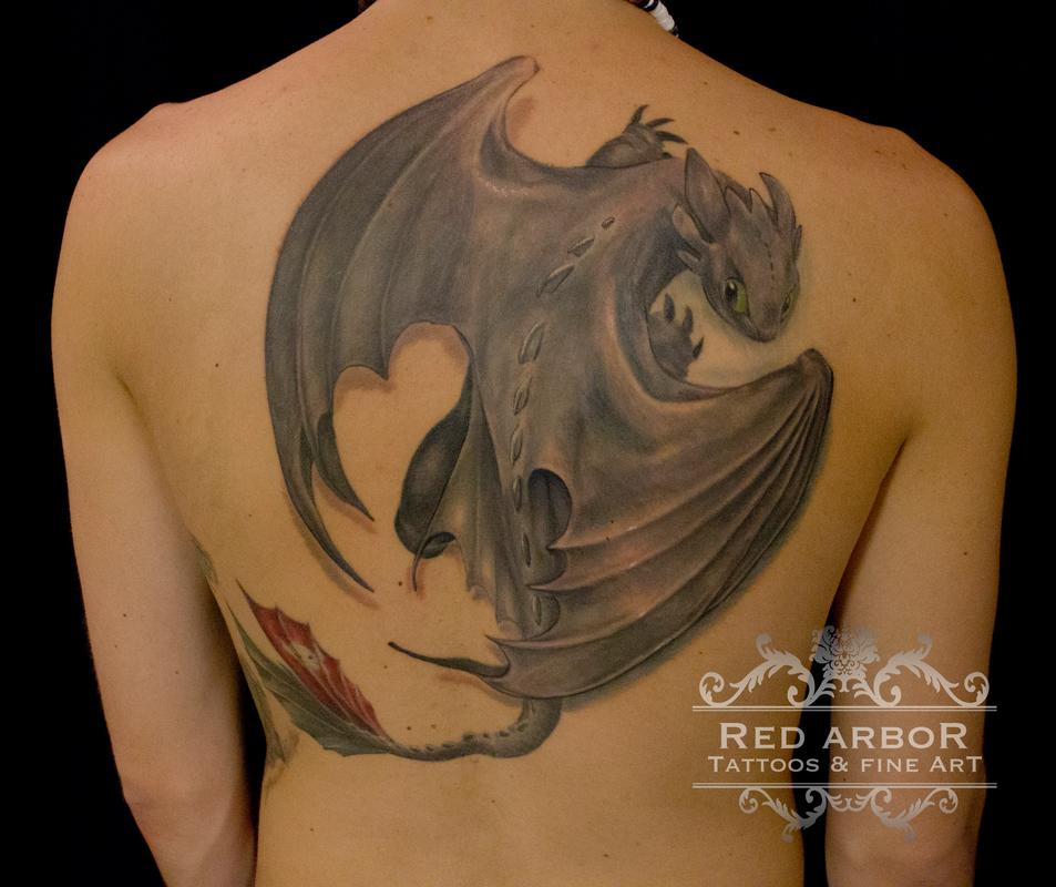 toothless how to train you dragon by cory claussen tattoos. Black Bedroom Furniture Sets. Home Design Ideas