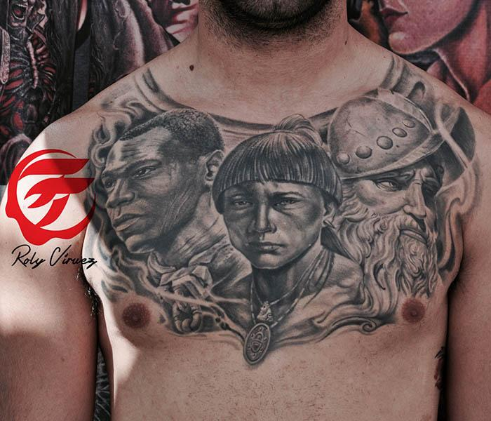 Puerto rican heritage tattoo by roly viruez tattoonow for Puerto rican tattoo