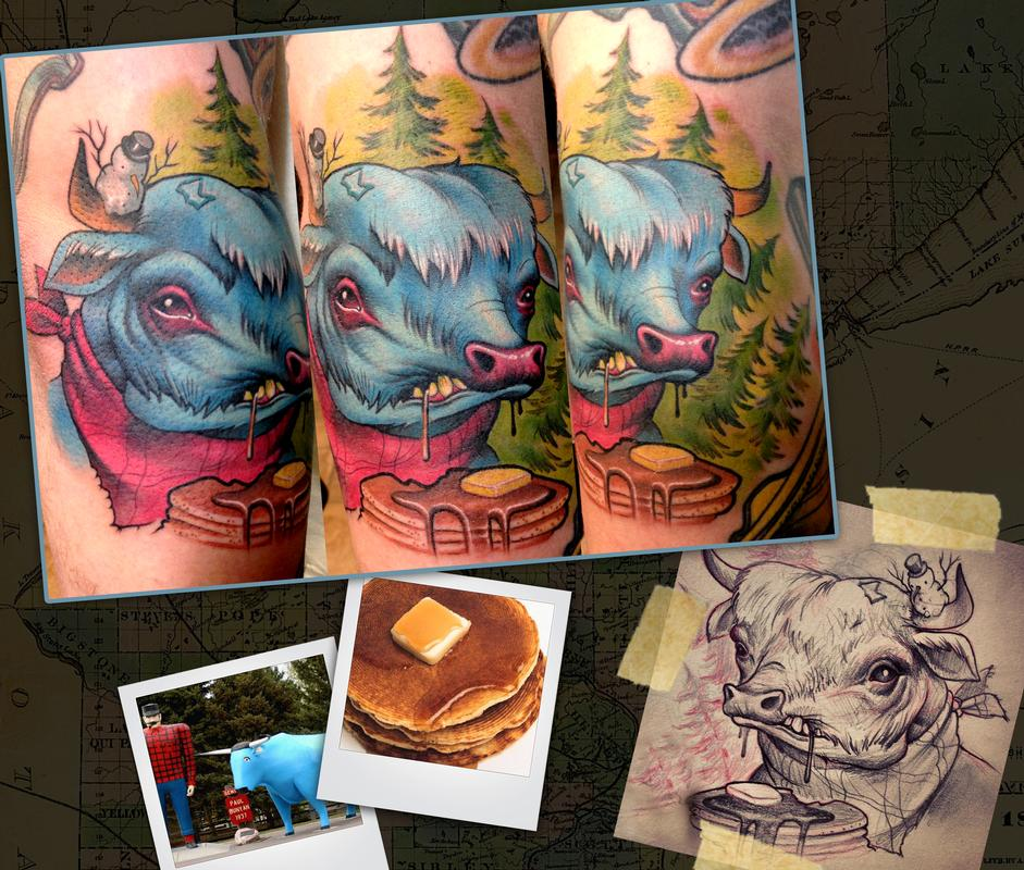 Babe the blue ox by scotty munster tattoonow for Tattoo shops in st cloud mn