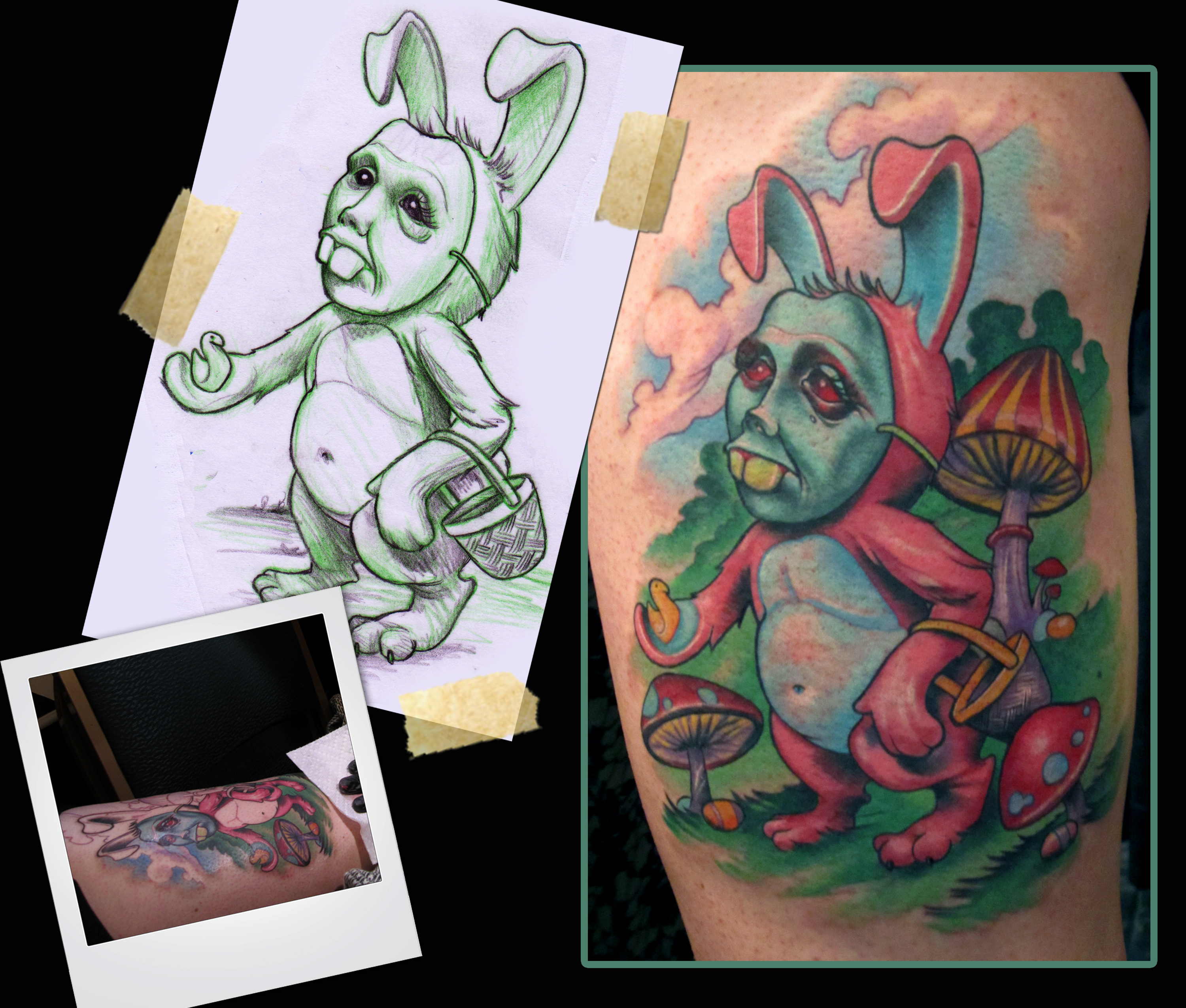 Easter bunny tattoo by scotty munster tattoonow for Tattoo shops in st cloud mn