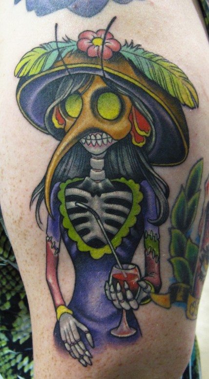 Mosquito day of the dead tattoo by scotty munster tattoonow for Tattoo shops in st cloud mn