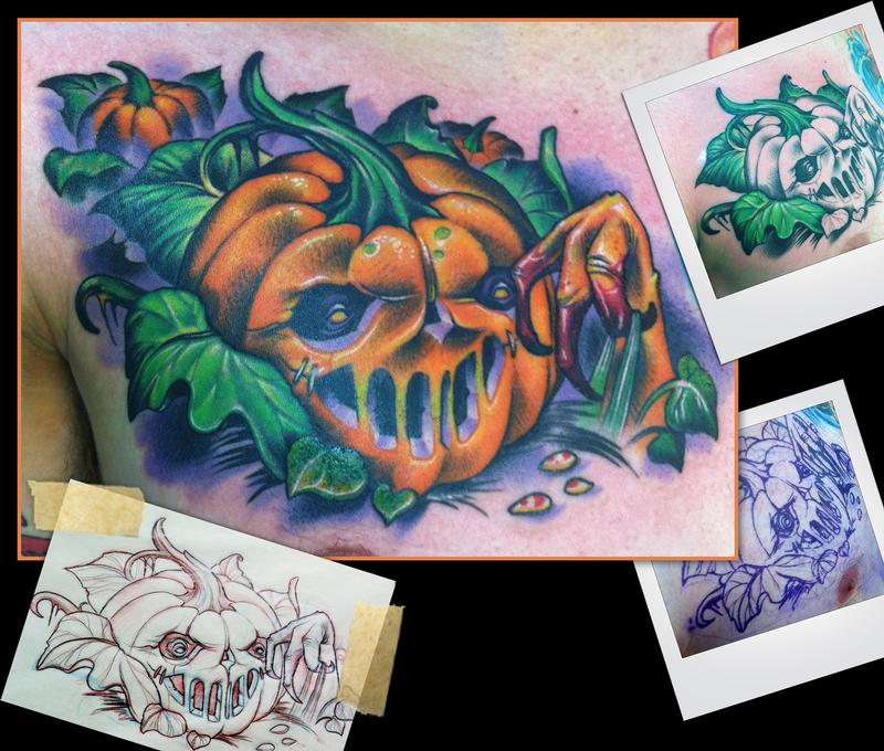 Now reviewing p... Evil Jack O Lantern Tattoo
