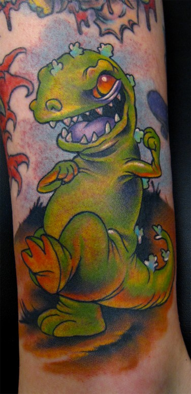 Reptar tattoo by scotty munster tattoonow for Tattoo shops in st cloud mn