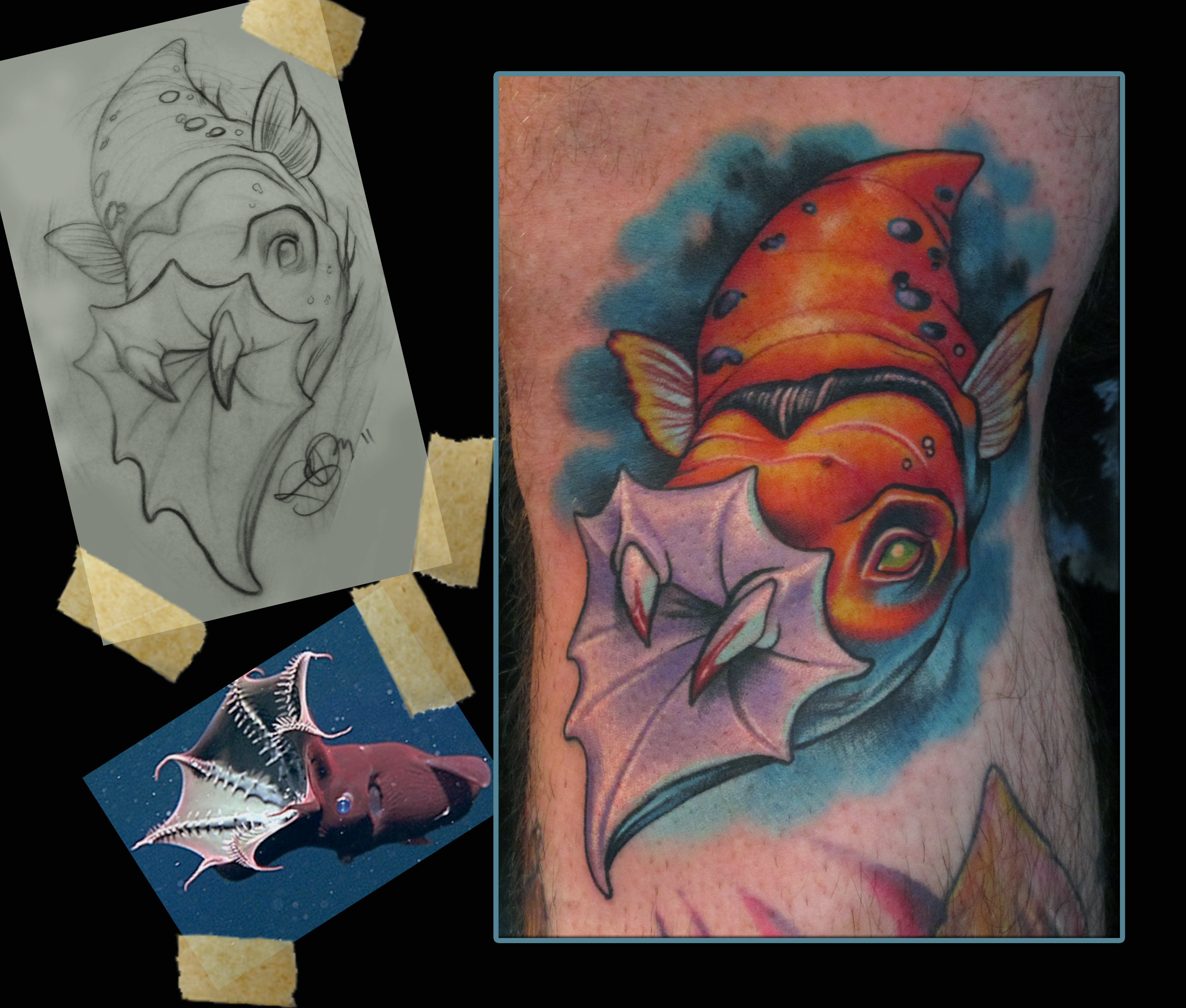 Vampire squid tattoo by scotty munster tattoonow for Tattoo shops in st cloud mn