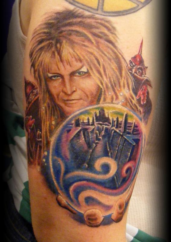 David bowie by sean peters tattoonow for Bowie tattoo ideas