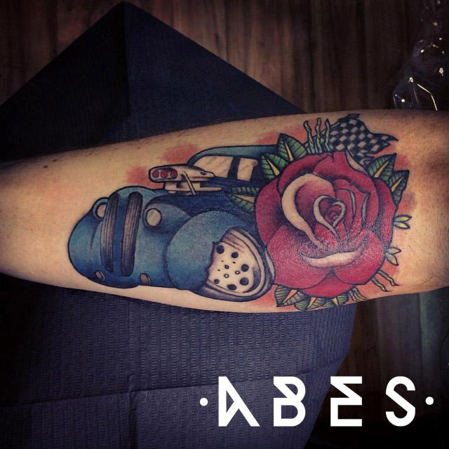 Hot rod by abes tattoonow for Hot rod tattoos