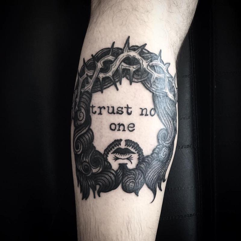 Trust no one by abes tattoonow for Trust no one tattoo