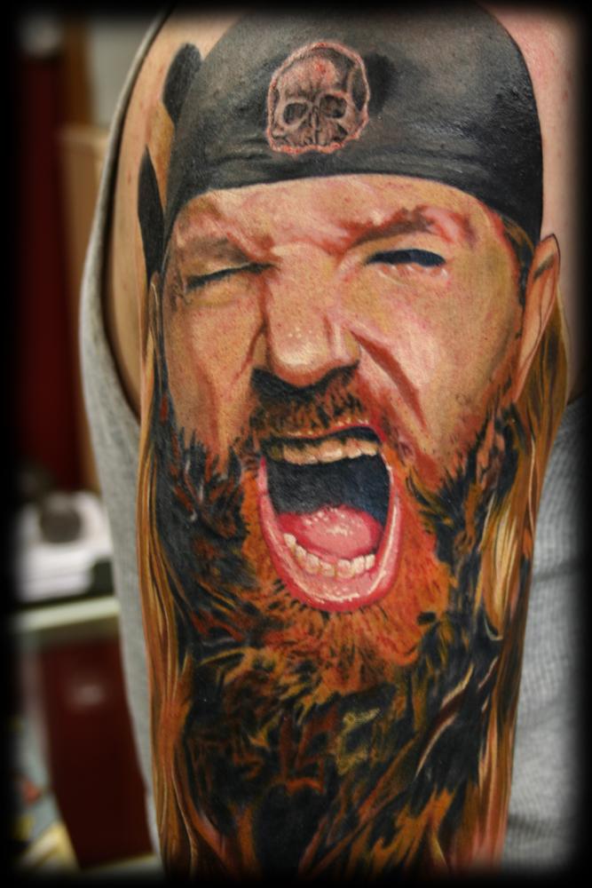 Zakk wyld portrait by jesse rix tattoonow - Tatouage seigneur des anneaux ...